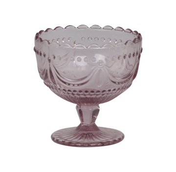 Chic Antique Coupeglas Rosa mit Spitzenkante
