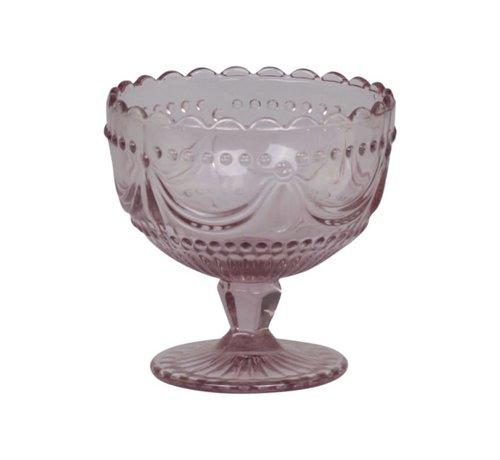 Chic Antique Coupeglas Rosa mit Spitzenkante