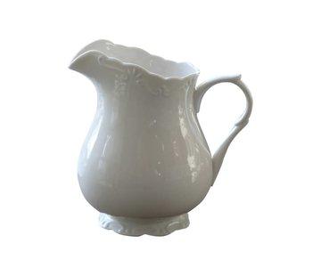 Chic Antique Teekrug Provence - 100% Porzellan   1 LT - Weiss