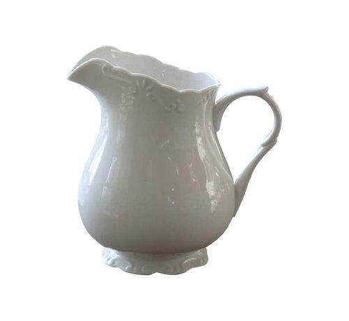 Chic Antique Teekrug Provence - 100% Porzellan | 1 LT - Weiss