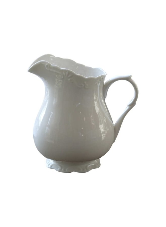 Teekrug Provence - 100% Porzellan | 1 LT - Weiss