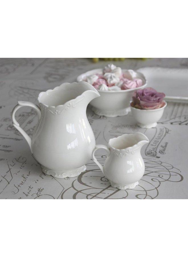 Teekrug Provence - 100% Porzellan - 1 LT - Weiss