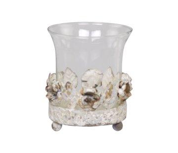 """Chic Antique Teelichthalter """"Rose de Provence"""" mit Glas"""