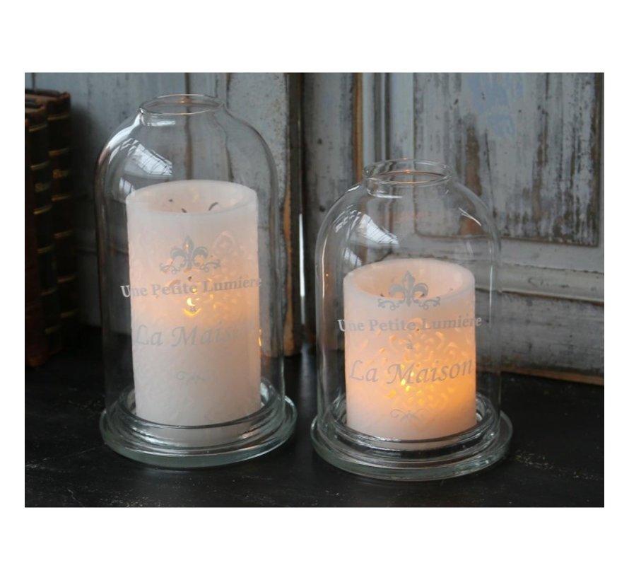 "Kerzenhaube ""La Maison"" aus Glas"