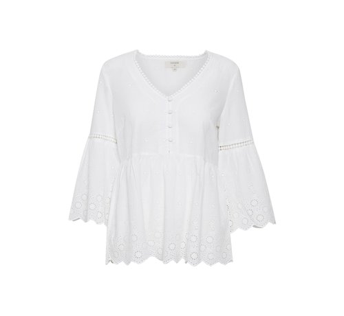 Cream Clothing Bluse | Anais Blouse - Chalk
