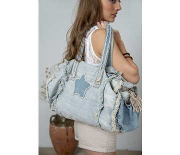 Jeanne d`Arc Living Tasche-Shopper | Weekend bag - Joyous mind - Denim