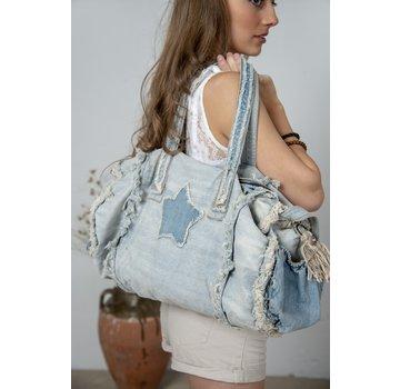 Jeanne d`Arc Living Tasche-Shopper | Weekend bag - Joyous mind - Denim