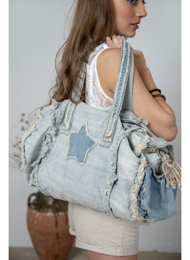 Tasche-Shopper | Weekend bag - Joyous mind - Denim