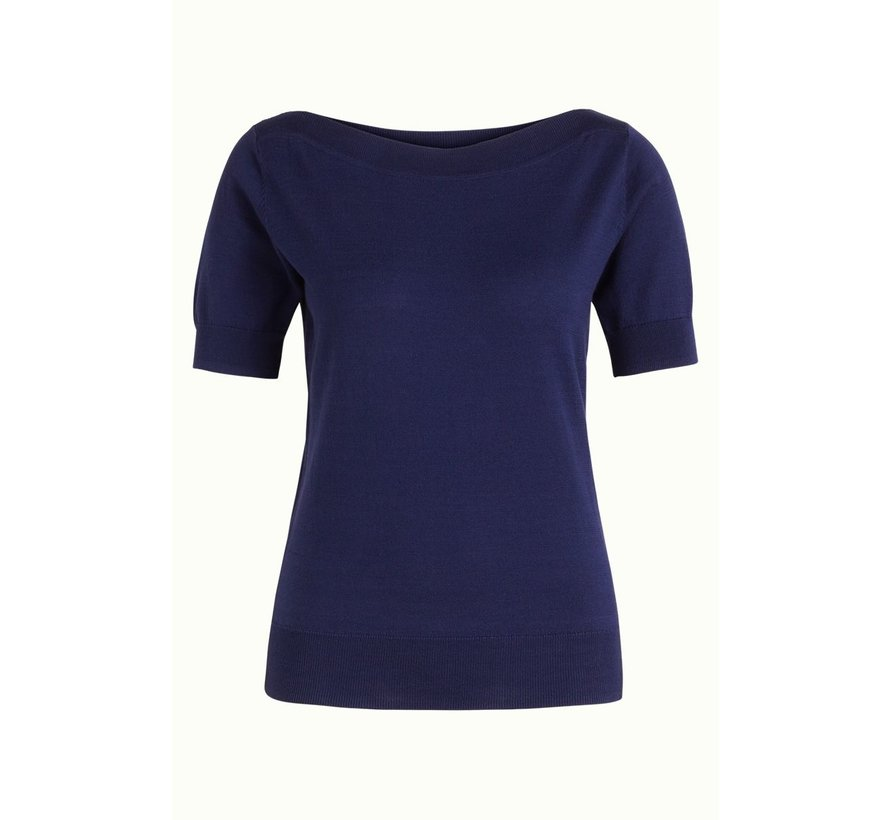 Stricktop | Audrey Top Cottonclub - Peacoat Blue