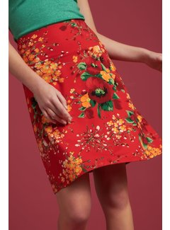 King Louie Rock | Border Skirt Splendid - Fiery Red