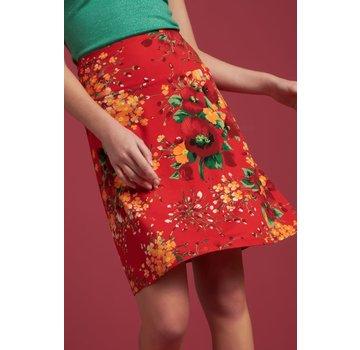 King Louie Rock   Border Skirt Splendid - Fiery Red