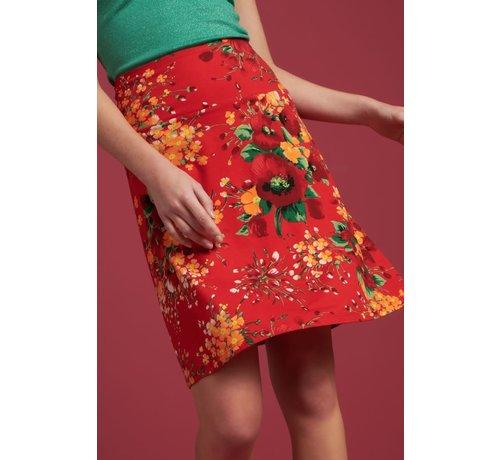 King Louie Rock | Border Skirt Splendid - Fiery Red
