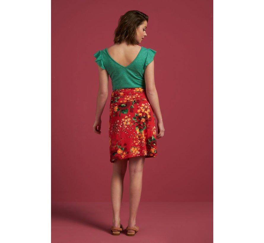 Rock | Border Skirt Splendid - Fiery Red