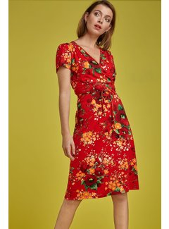 King Louie Kleid | Cecil Dress Splendid - Fiery Red