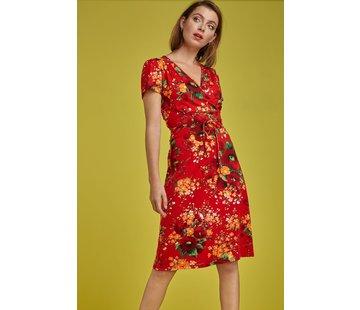 King Louie Kleid | Cecil Dress Splendid - Fiery Red
