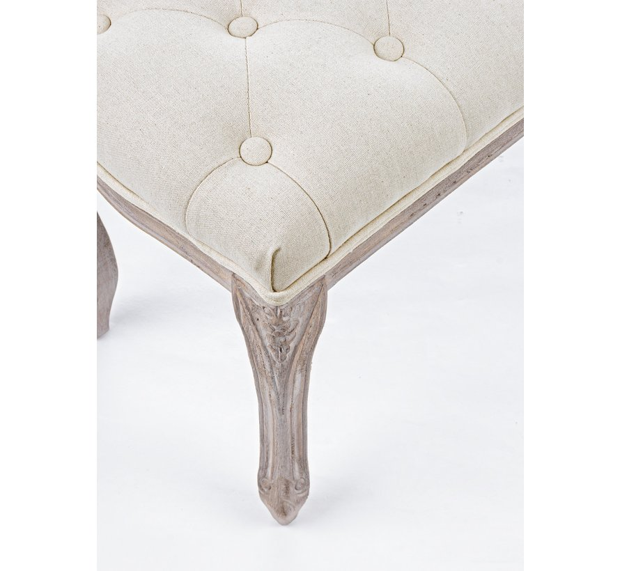 Bettbank | Sitzbank im Landhausstil - Nature Beige