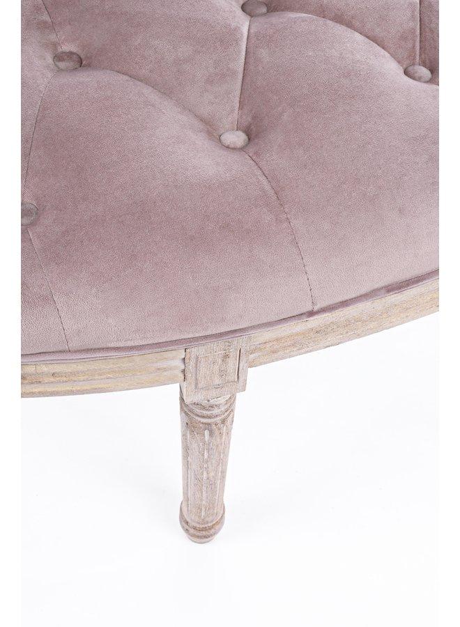 Bettbank Halbrund | Sitzbank im Landhausstil - Lila Samt