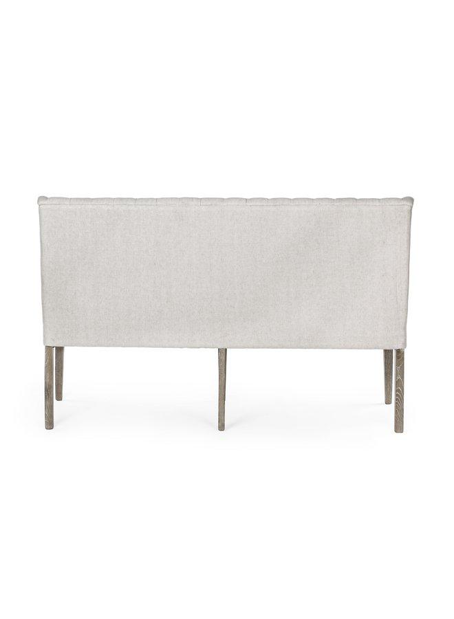 Tischsofa Columbia | Eichenholz - Baumwolle - Leinen
