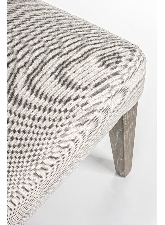 Tischsofa Columbia   Eichenholz - Baumwolle - Leinen