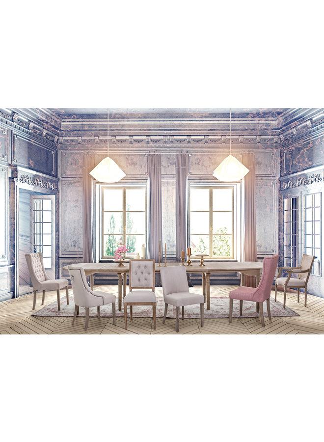 Stuhl Columbia | Eichenholz - Baumwolle - Leinen
