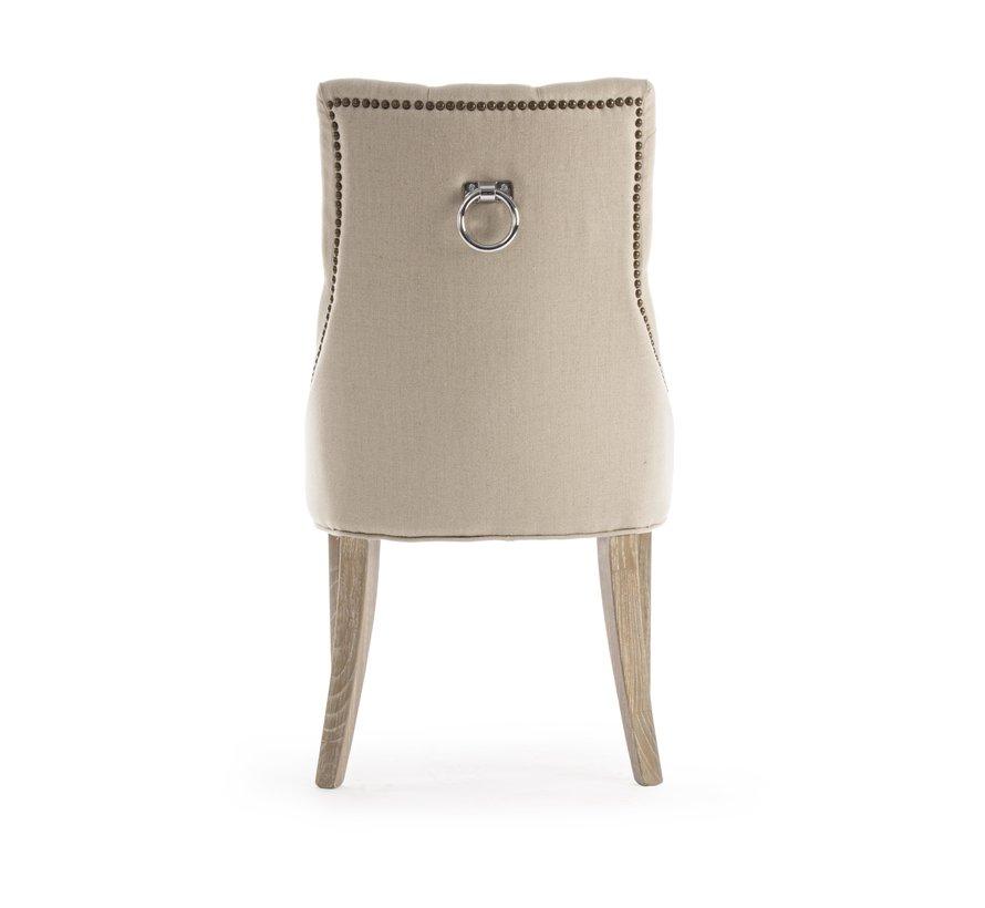 Stuhl Cally | Eichenholz - Baumwolle - Leinen