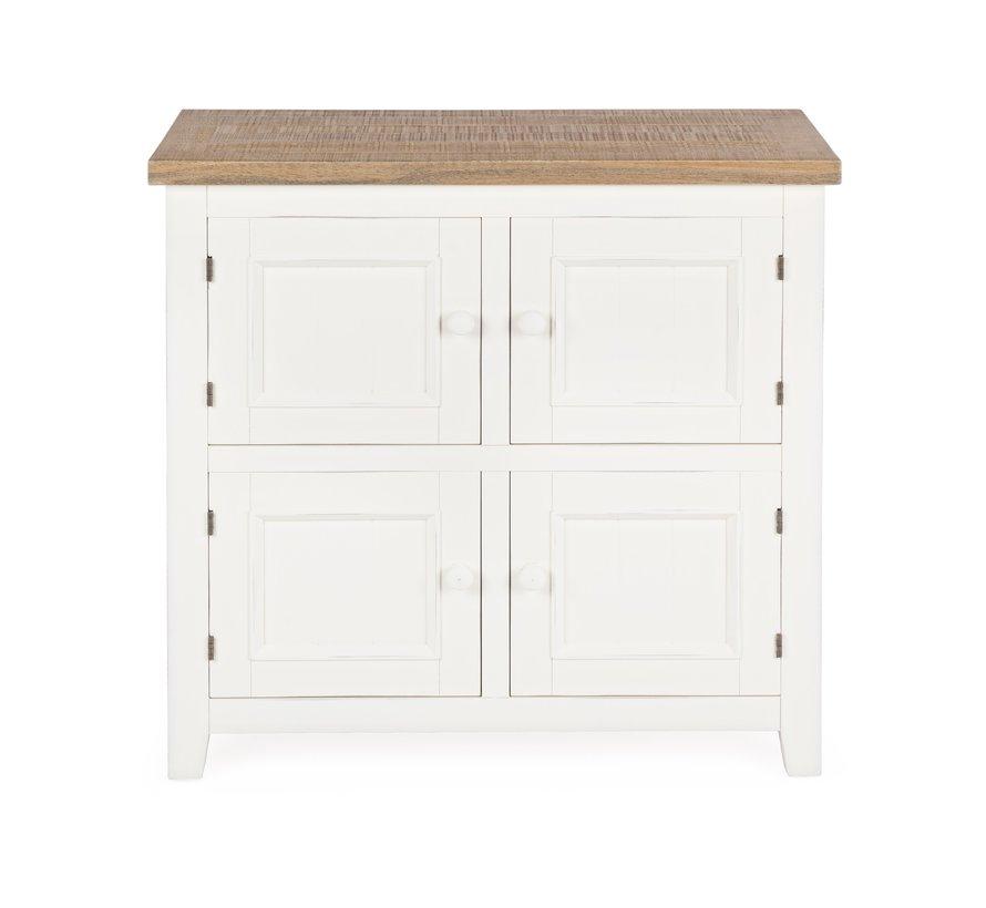 Sideboard Tinnum | 4 Türen - Landhauskommode - Cremeweiss