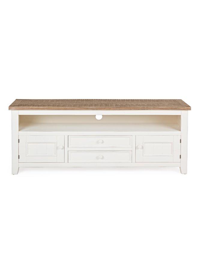 TV-Möbel Tinnum | 2S - Landhausmöbel - Cremeweiss
