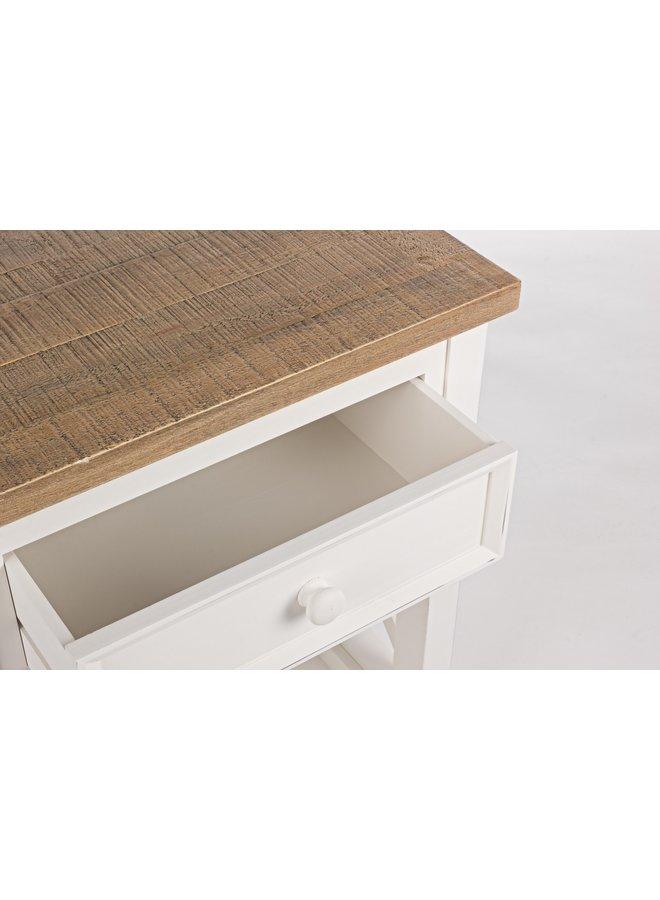 Beistelltischchen Tinnum | Landhausmöbel - Cremeweiss