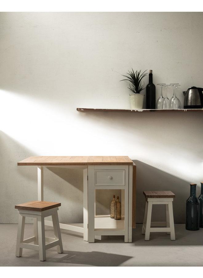 Küchentisch faltbar Tinnum | Landhausmöbel - Cremeweiss