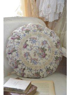 Jeanne d`Arc Living Kissen Flower rund | Ø 50 cm