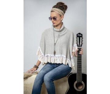 Jeanne d`Arc Living Poncho | Warm senses - Light grey