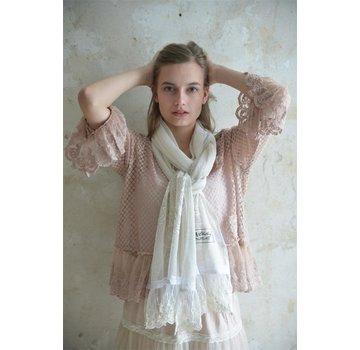Jeanne d`Arc Living Schal | Delicate heart - Cream
