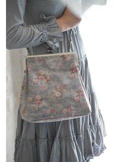Jeanne d`Arc Living Ziegenleder Handtasche Hoch - Flower Power
