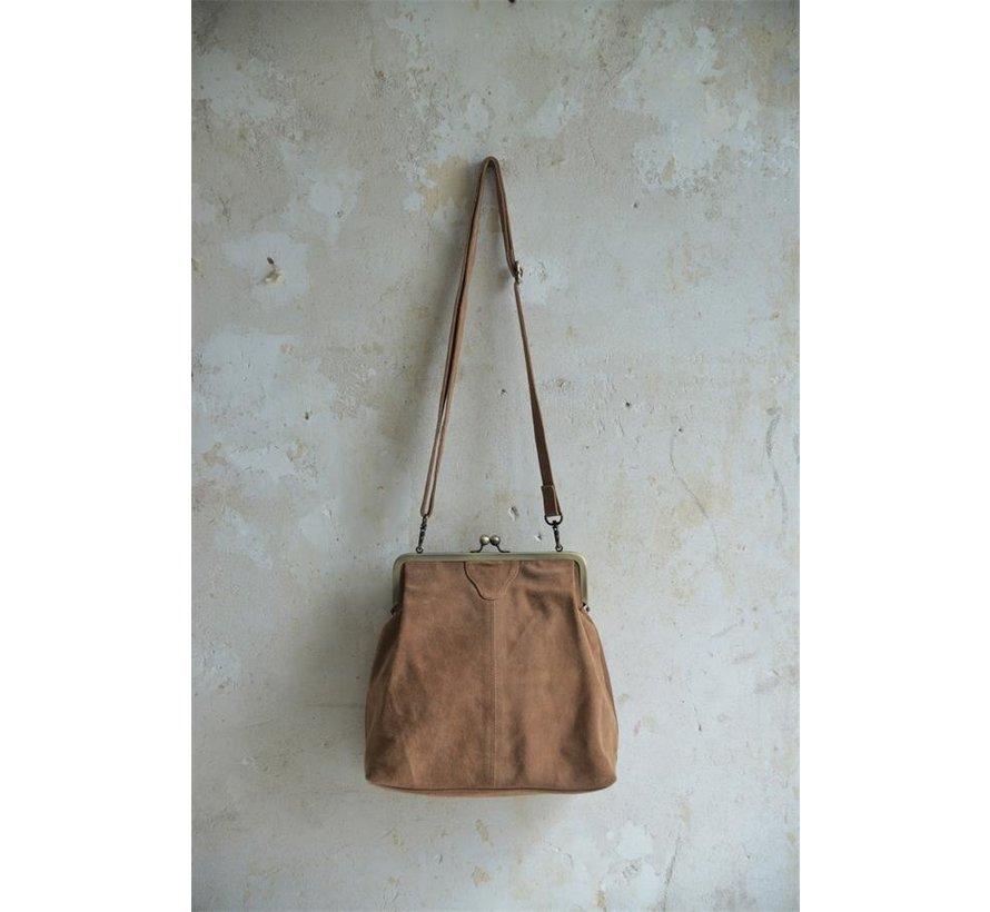 Leder Handtasche Hoch