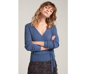 King Louie Cardy | Cardi Wrap Fluffy - Moonlight Blue