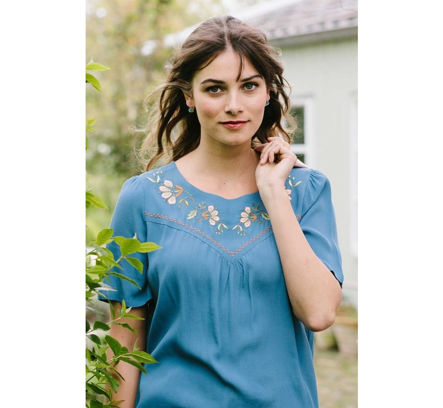 Blusentop | Lizzy Top Niagara - Moonlight Blue