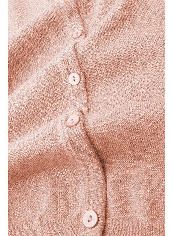 Cardigan | Cardi Roundneck Lapis - Salmon Pink