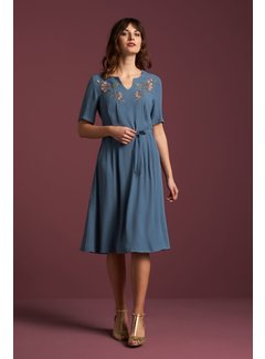 King Louie Kleid | Lorraine Dress Niagara - Moonlight Blue