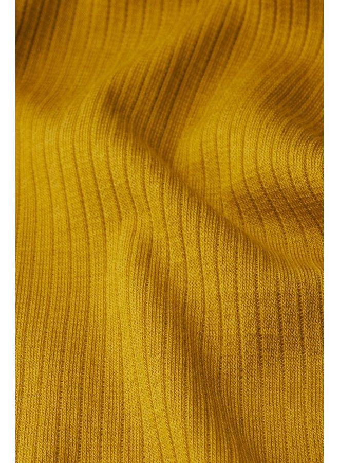 T-Shirt | Carice V Top Tencel Rib -  Curry Yellow