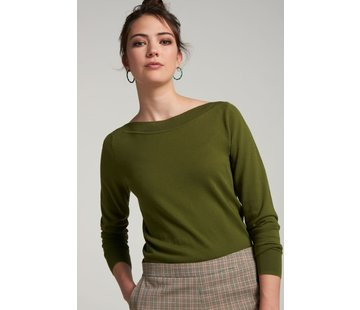 King Louie Feinstrickpulli | Audrey Top Cottonclub - Olive Green