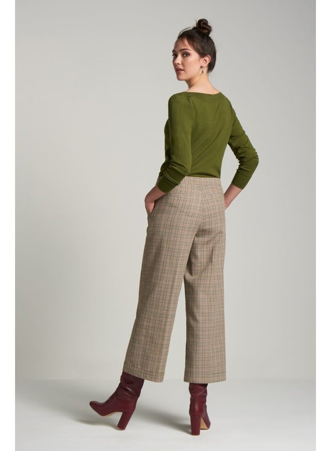Feinstrickpulli | Audrey Top Cottonclub - Olive Green