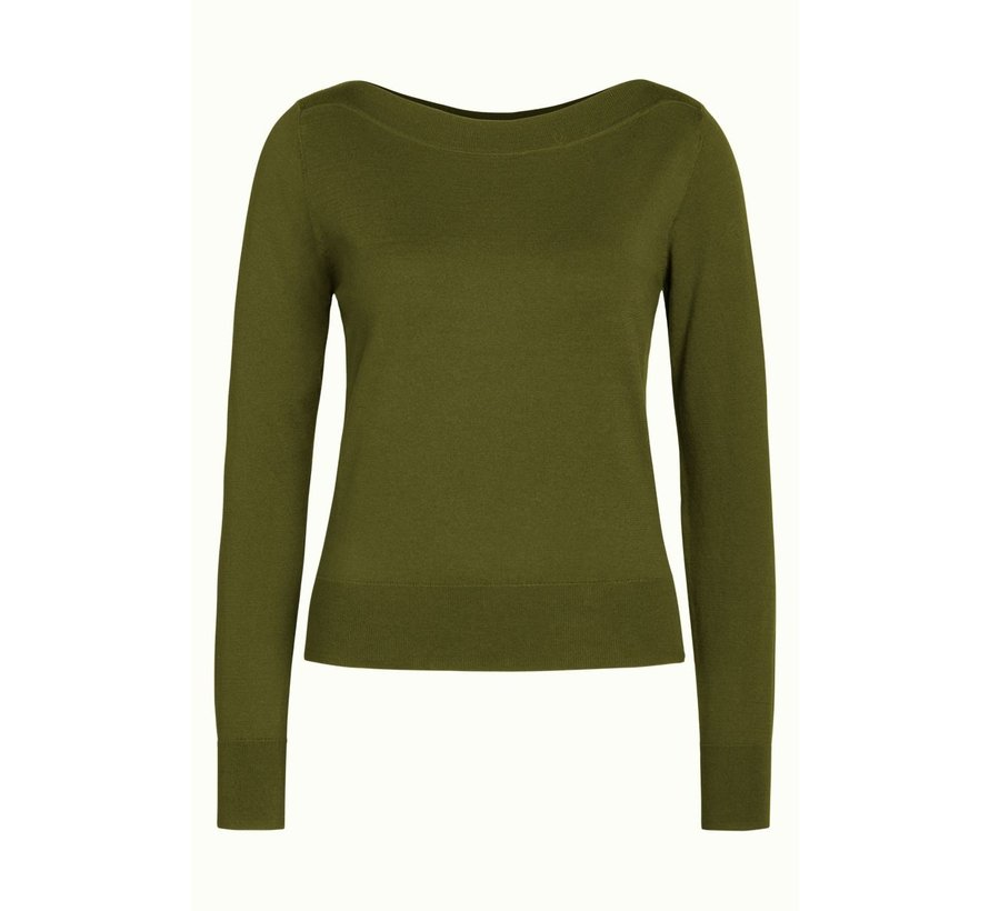 Feinstrickpulli   Audrey Top Cottonclub - Olive Green