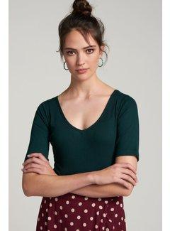 King Louie T-Shirt | Carice V Top Tencel Rib - Pine Green
