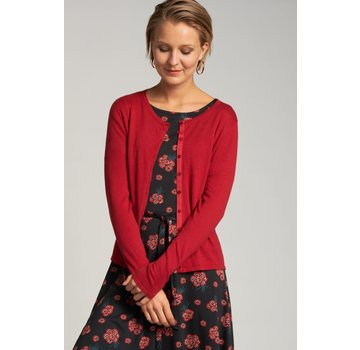 King Louie Cardigan | Cardi Roundneck Cocoon - Icon Red