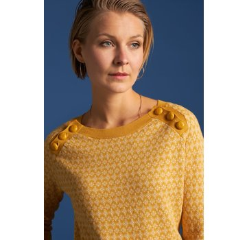 King Louie Pullover | Button Jumper Langlauf -  Sunset Yellow