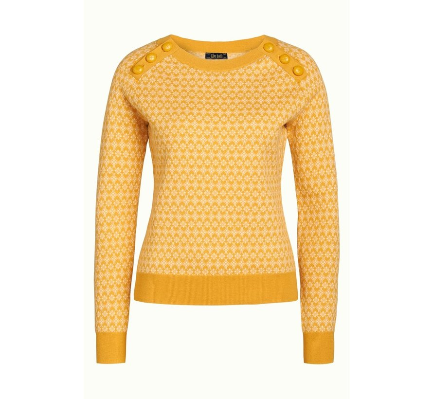 Pullover | Button Jumper Langlauf -  Sunset Yellow