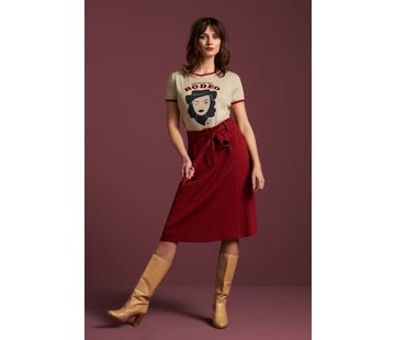 King Louie Rock | Ava Skirt Milano Crepe - True Red