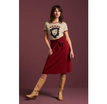 King Louie Rock | Ava Skirt Milano Crepe - True Red