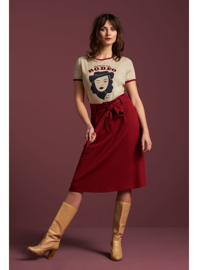 Rock | Ava Skirt Milano Crepe - True Red