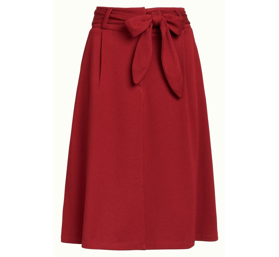 Rock | Ava Skirt Milano Crepe - True Red